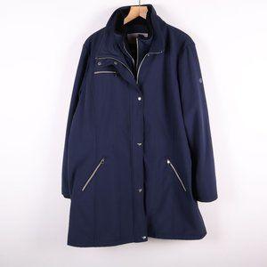 JESSICA SIMPSON Zip Navy Blue Mid Length Jacket